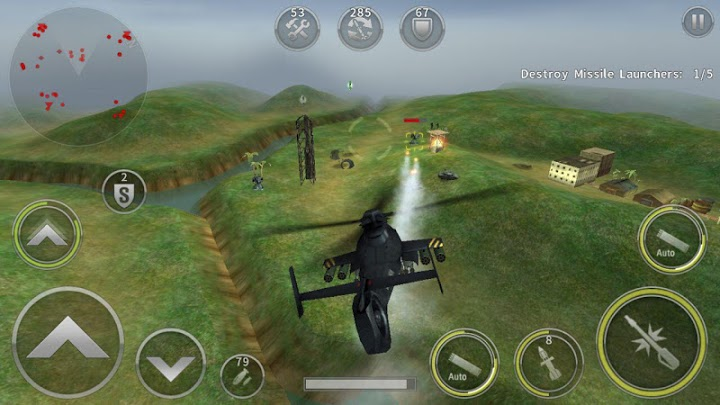 تحميل لعبة طائرة الاباتشي GUNSHIP BATTLE: Helicopter 3D للأندرويد
